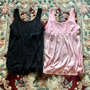 XERSION TOPS (2) BLACK AND PINK IN SZ MED...CUTE!